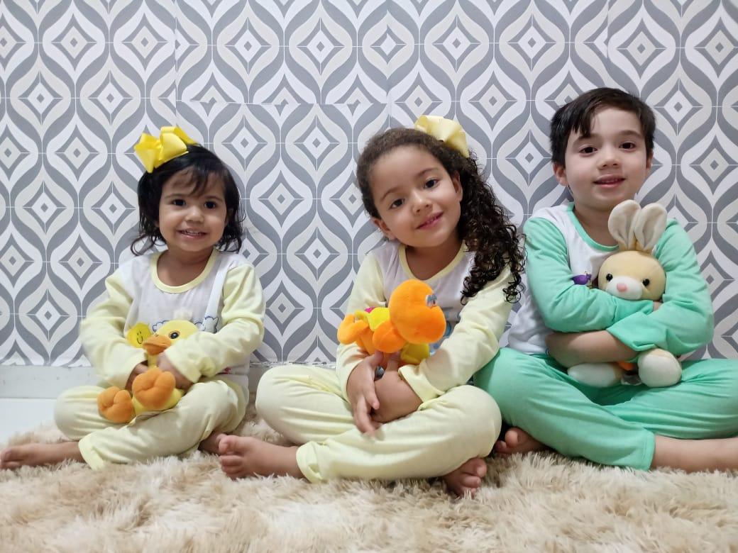 Pijamas infantis sublimados