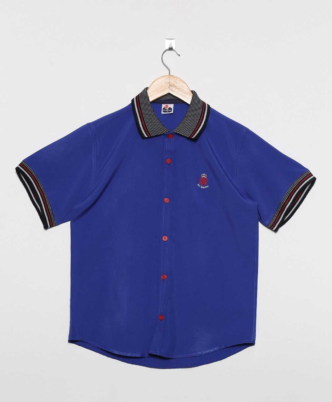 Camisa Social Infantil Masculina Gola Polo  Lisa Oxford