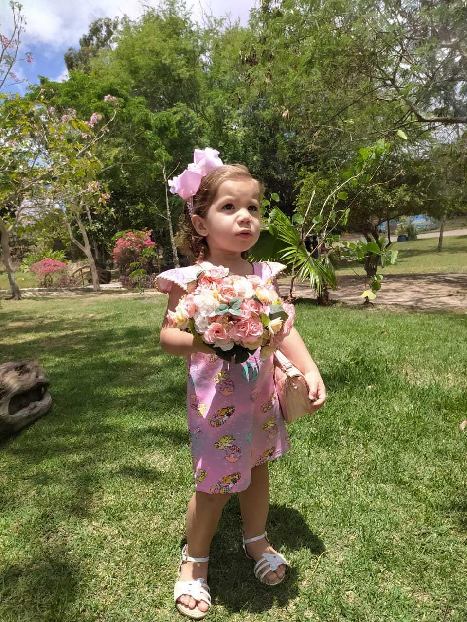 Vestidos infantis suplex
