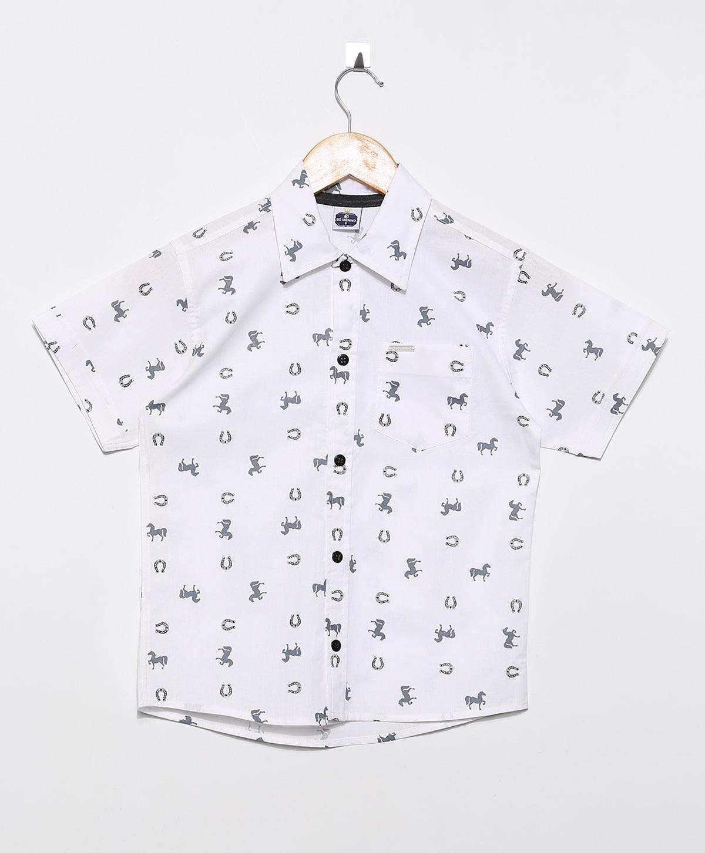 Kit 3 Camisa Infantil Social manga curta