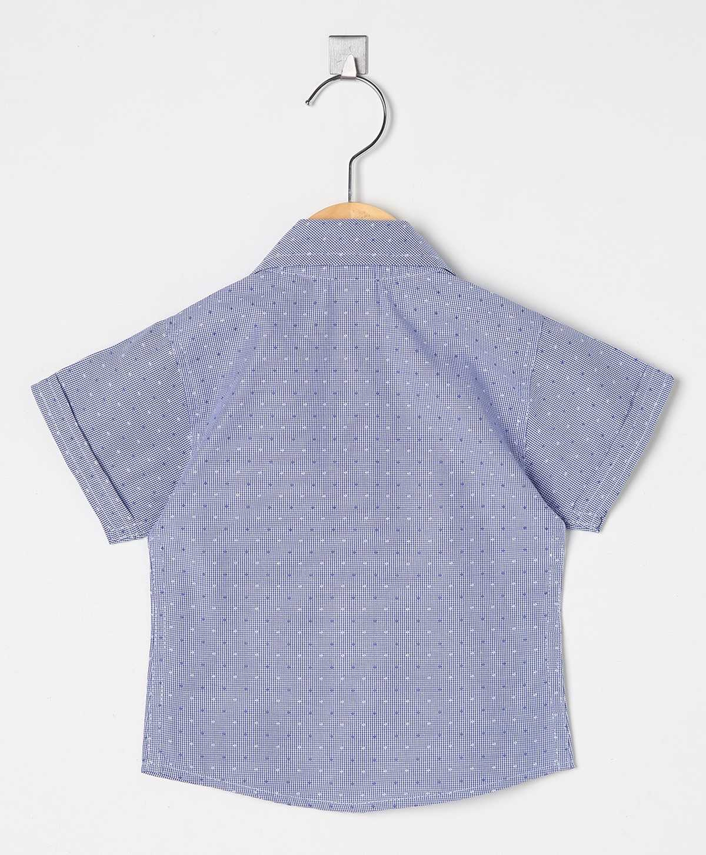 Camisa Social infantil Masculina manga curta Premium fio 50