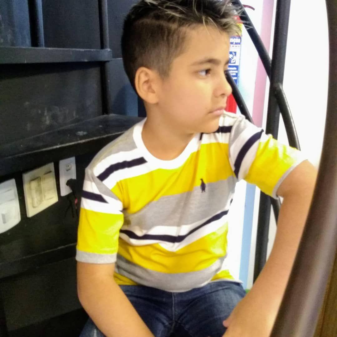 Camisa de listra infantil Pinguim Store