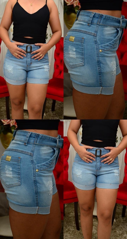 Shorts jeans com lycra do 36 ao 46
