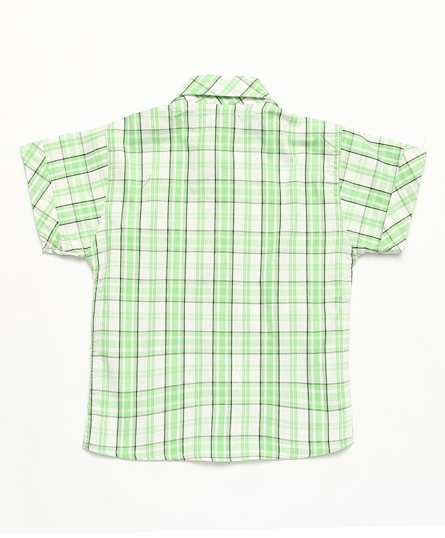 Camisa Social infantil Masculina manga curta Xadrez 100% algodão