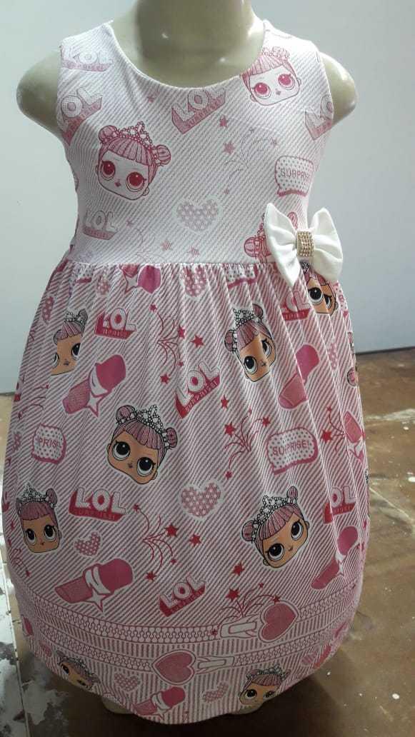 Vestidos infantis 100% algodão
