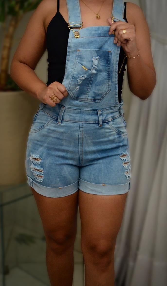 Macaquitos jeans com lycra